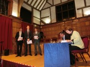 Surrey Helpers Presenting to Dragons @ Guildhall Nov 2014