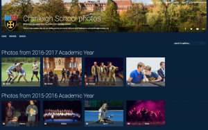 Screenshot of Senior School Smugmug