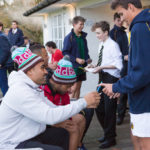 A photo taken by Lillian Spibey entitled: Cranleigh students meet the Harlequins-0370