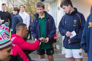 A photo taken by Lillian Spibey entitled: Cranleigh students meet the Harlequins-0372