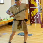 A photo taken by Lillian Spibey entitled: Cranleigh UV Form Lecture Ben Kane & the Roman Army-1110