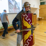 A photo taken by Lillian Spibey entitled: Cranleigh UV Form Lecture Ben Kane & the Roman Army-1190