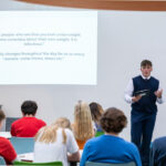 A photo taken by Lillian Spibey entitled: Cranleigh Sixth Form talks with U5th-9625