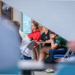 A photo taken by Lillian Spibey entitled: Cranleigh Sixth Form talks with U5th-9636