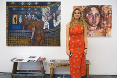 Sophia at Exhibition Opening 2019