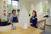 Working on Withies and tissues sculpture